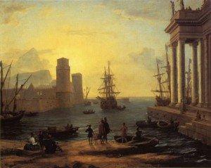 départ d'Ulysse du pays des Phéaciens Le Lorrain 1646