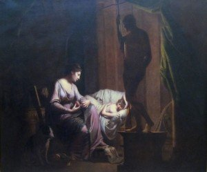 Pénélope défaisant son tissage à la lumière de la lampe Wright 1785